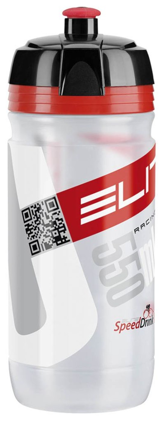 ELITE Trinkflasche CORSA transparent/rot 550 ml
