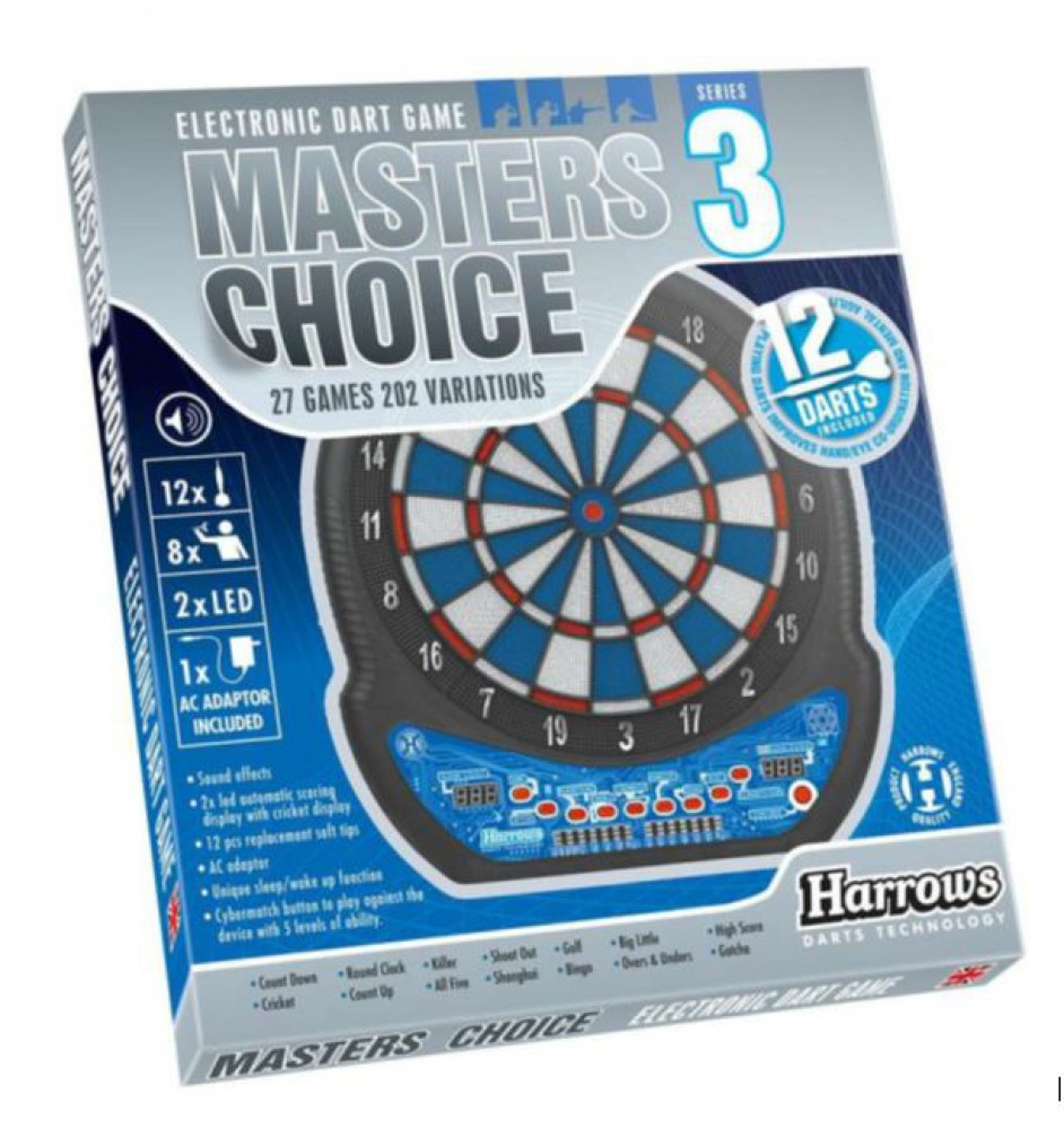 HARROWS Dartboard Masters Choice 3